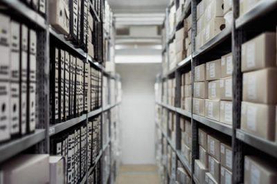 opslag en archief Houten