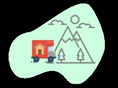 internationaal verhuizen icoon