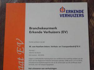 erkende verhuizers certificering